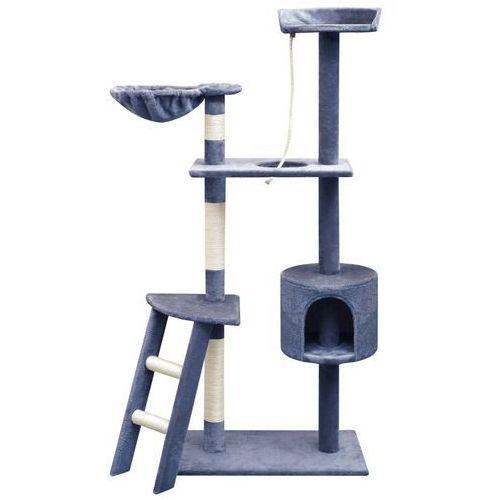 vidaXL Drapak dla kota ze słupkami sizalowymi, 150 cm, granatowy (8718475522904)