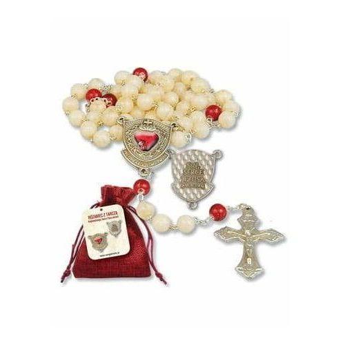 OKAZJA - Różaniec z Tarczą Najświętszego Serca Pana Jezusa z etui