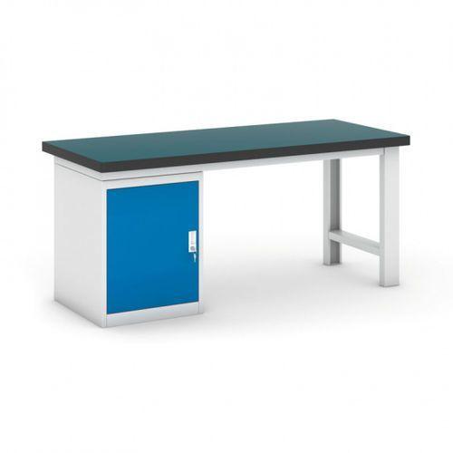Stół warsztatowy z szafką, 1800 mm