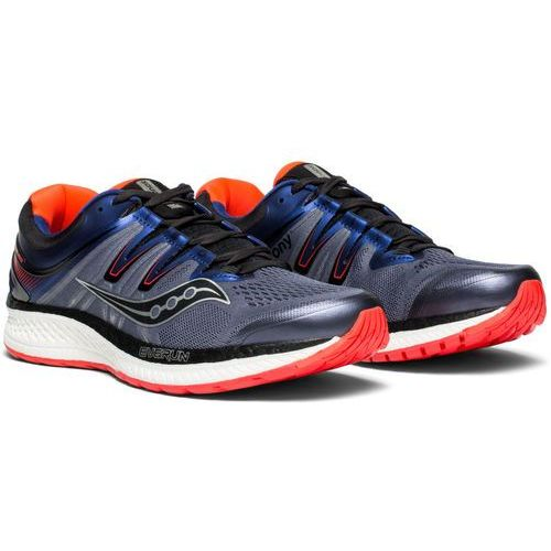Saucony hurricane iso 4 buty do biegania mężczyźni szary/niebieski us 12,5 | 47 2018 buty szosowe (0884547883711)