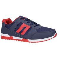 Granatowe buty sportowe sznurowane Casu 17009-27, kolor niebieski