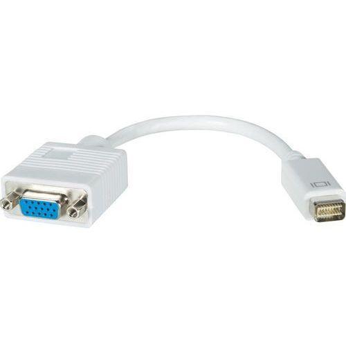 Przejściówka, adapter DVI, VGA Goobay 51744 20 cm, [1x złącze męskie mini-DVI - 1x złącze żeńskie VGA] (4040849517440)