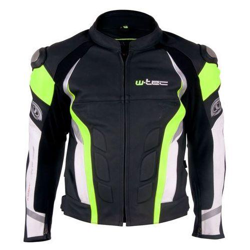 Męska skórzana kurtka motocyklowa W-TEC Velocity, Czarno-niebieski, M