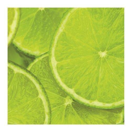 Szkło przyblatowe laminowane 0,8 x szer. 60 x wys. 60 cm 0,36 m2 limonka