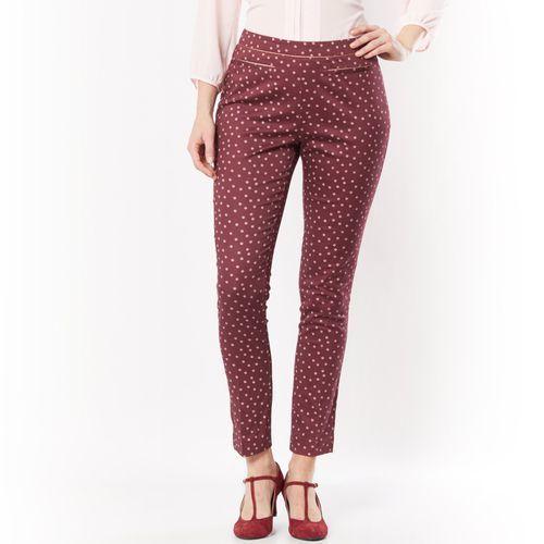 Spodnie do kostki z bawełny satynowej ze stretchem z kategorii Pozostała moda i styl