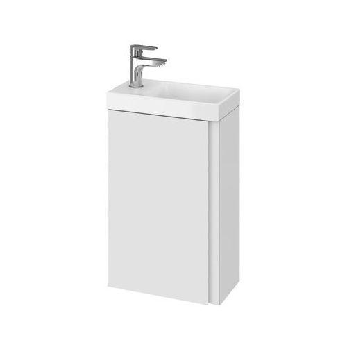 CERSANIT set szafka Moduo biały połysk + umywalka Moduo 40 S801-218, kolor biały