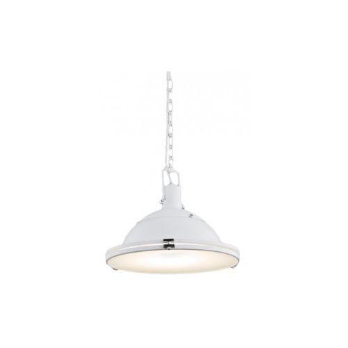Industrialna LAMPA wisząca NAUTILIUS L 10266101 Kaspa metalowa OPRAWA na łańcuchu ZWIS biały, kolor Biały