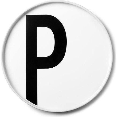 Talerz porcelanowy AJ litera P