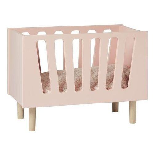 Łóżeczko dla lalek na drewnianych nóżkach Done by deer różowe, 45751