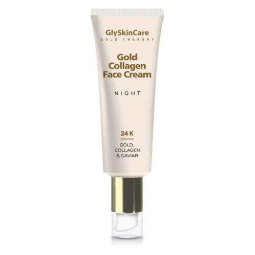 GlyskinCare kolagenowy krem do twarzy ze złotem na noc 50ml