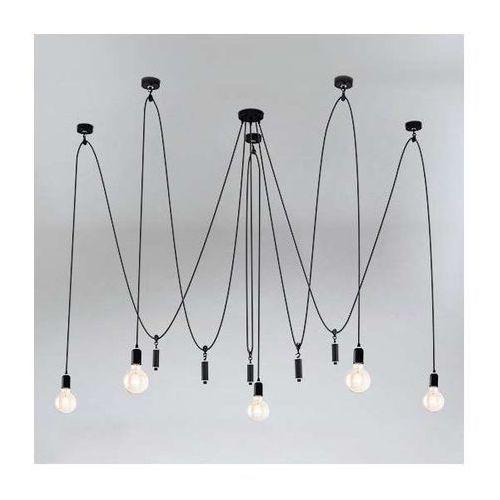 Shilo Lampa wisząca kumo 9034/e27/cz industrialna oprawa pająk zwis kable przewody loft czarne (1000000427936)