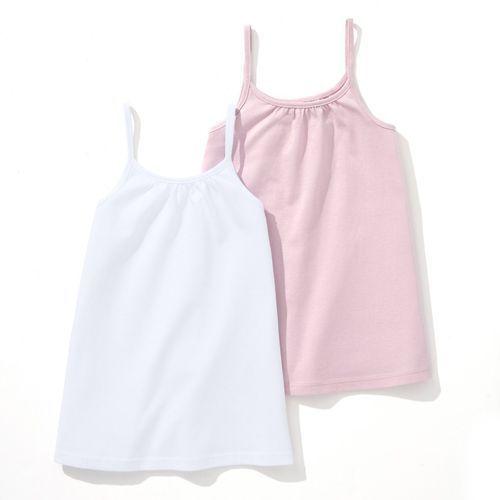 R édition Gładka koszulka na wąskich ramiączkach 3-12 lat (komplet 2 szt.)