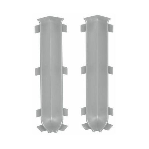 Cezar Zakńczenie narożne wewnętrzne listwy cokołowej 100 mm jasno szary elpo 2szt (5907684653674)