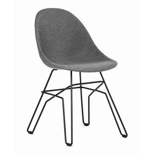 Malodesign Krzesło ribe tapicerowane szary ciemny (grafitowy)