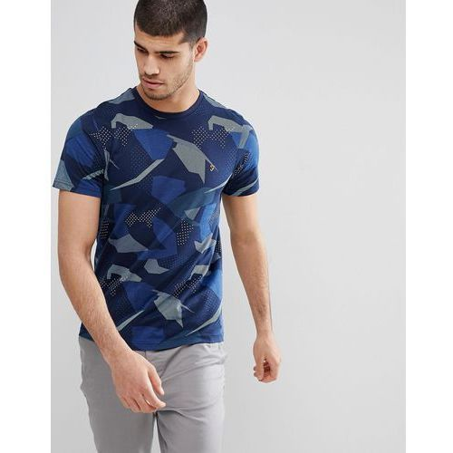 Farah northenden slim fit all over print t-shirt in navy - navy