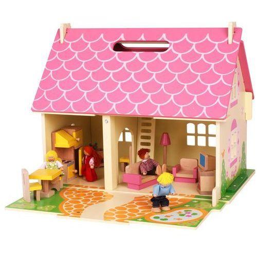 przenośny drewniany domek dla lalek marki Bigjigs toys