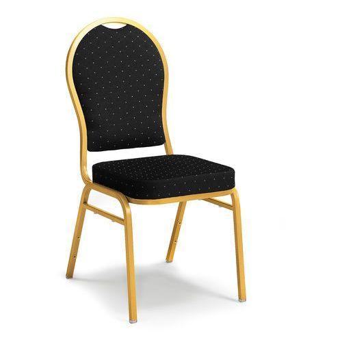 Krzesło bankietowe Seattle czarny złoty