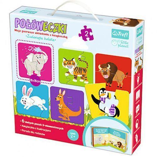 Trefl Puzzle połóweczki - zwierzęta świata - little planet (5900511905601)