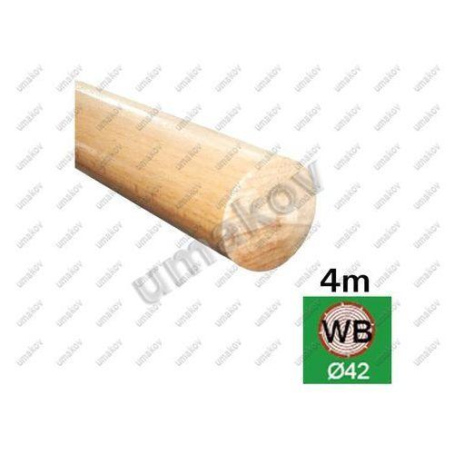 BUK-Poręcz, nielakierowany BUK (BEECH), D42/L4000m