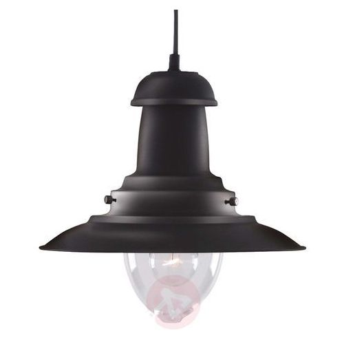 Morska lampa wisząca FISHERMAN czarny, kolor czarny,