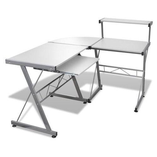 Vidaxl biurko komputerowe, rogowe, białe (8718475854333)