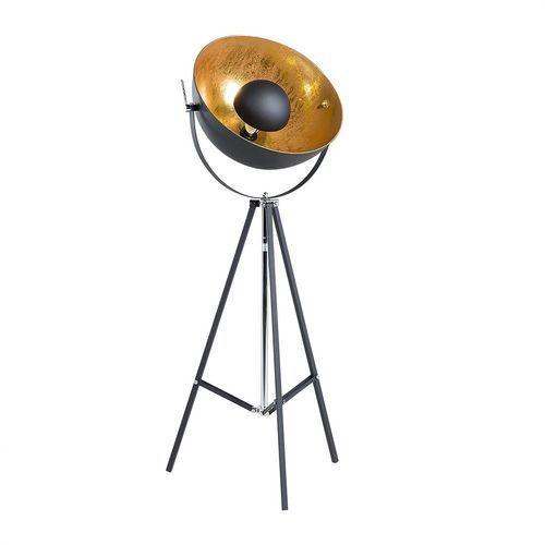 Lampa stojąca czarno-złota 165 cm THAMES II