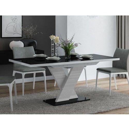 Stół rozkładany oskar czarno-biały wysoki połysk marki Mato design
