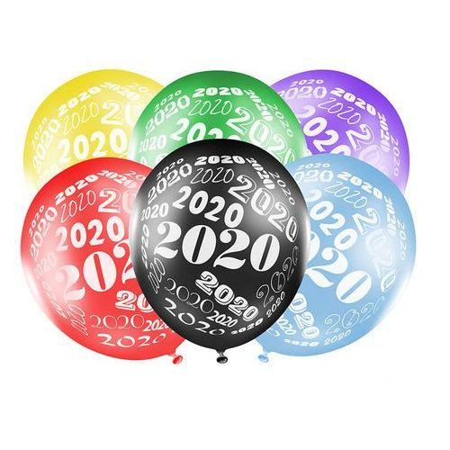 Balony metaliczne - mix kolorów z nadrukiem 2020 - 50 szt. (5900779115408)