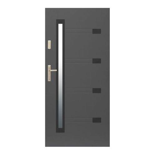 Drzwi zewnętrzne Zitron 90 prawe antracyt (5907803993377)