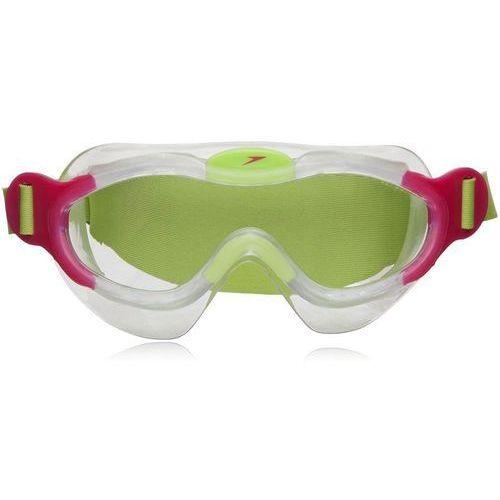 Maska do pływania  sea squad dziecięca 8087638028 - zielono-czerwony marki Speedo