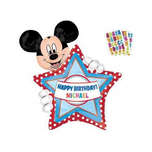 Balon foliowy Personalizowany Myszka Mickey - 60x76 cm - 1 szt. (0026635263641)