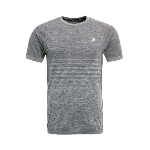 Jack & Jones Tech JJTPITCH SEAMLESS CREW NECK Podkoszulki dark grey melange (5713615035187)