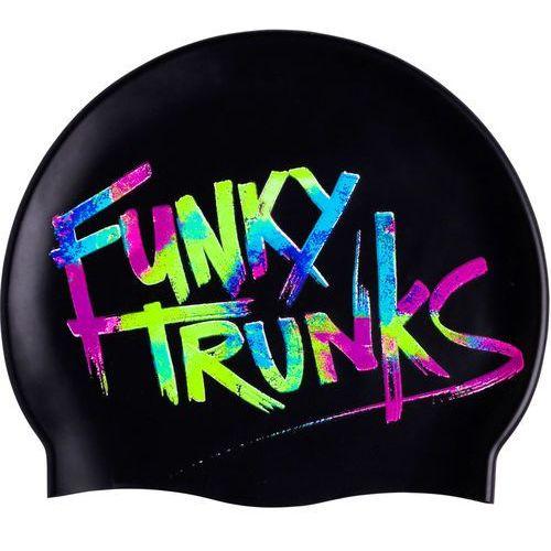 cap czepek pływacki mężczyźni czarny one size 2018 czepki pływackie marki Funky trunks