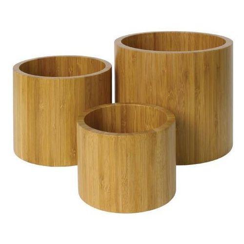 Bambusowe pojemniki | zestaw 3 sztuk | różne wymiary | szt.
