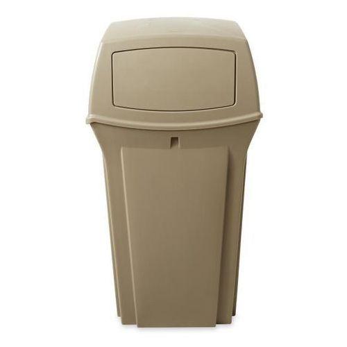 Pojemnik na odpady (PE), ogniotrwały, poj. 133 l, beżowy. Z bardzo trwałego twor