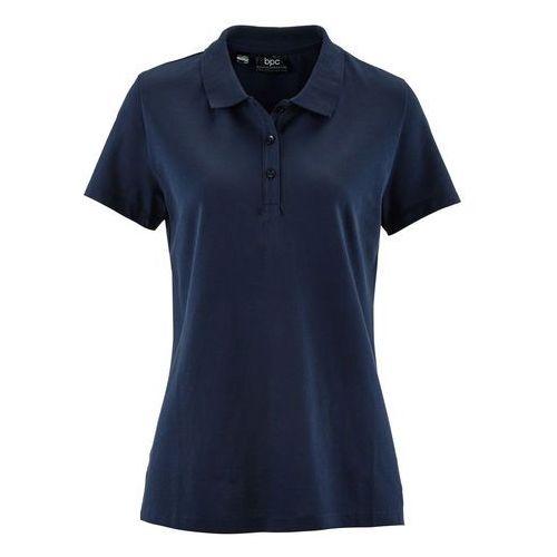 Shirt polo z rękawami 1/2 ciemnoniebieski marki Bonprix