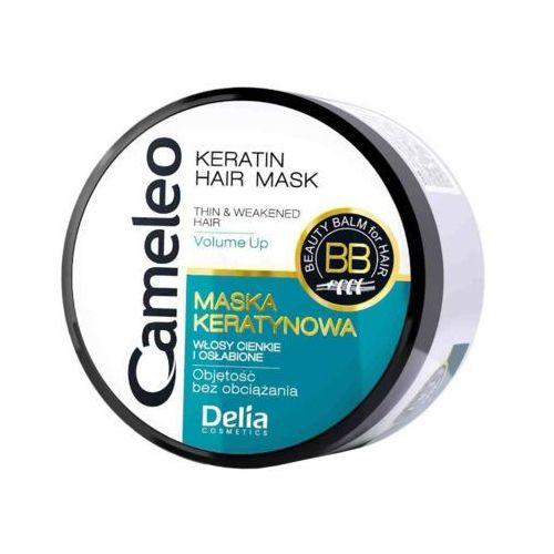 Delia 200ml cameleo maska keratynowa do włosów cienkich i osłabionych
