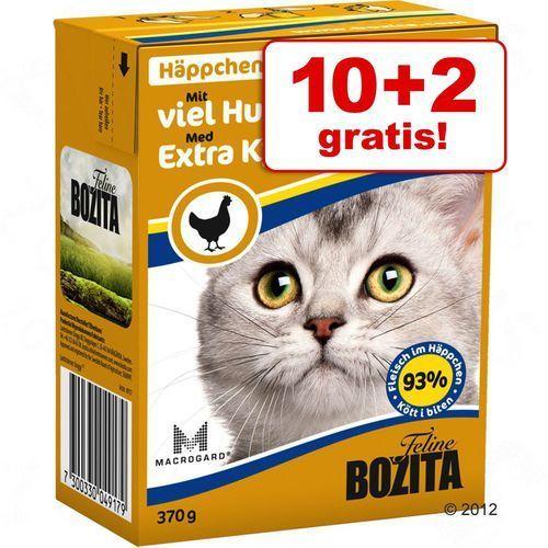 Bozita 10 + 2 gratis! w galarecie / sosie, 12 x 370 g - indyk w galarecie