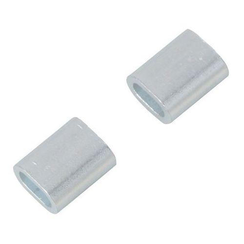 Zacisk linowy aluminiowy podłużny 3 mm 2 szt. marki Diall