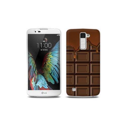 LG K10 - etui na telefon Full Body Slim Fantastic - tabliczka czekolady
