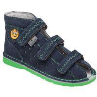 Kapcie profilaktyczne buty t105e t115e jeans zielony - granatowy ||jeans ||zielony ||multikolor marki Danielki