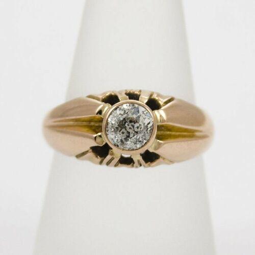 Złoty pierścionek z diamentem P1544, kolor żółty