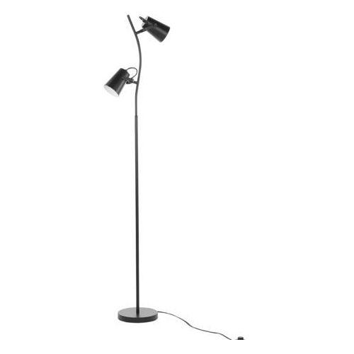 Beliani Lampa stojąca czarna 149 cm flint (4260624116761)