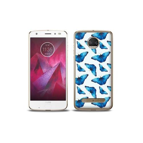 etuo Fantastic Case - Motorola Moto G6 Play - etui na telefon Fantastic Case - niebieskie motyle, ETMT716FNTCFC049000