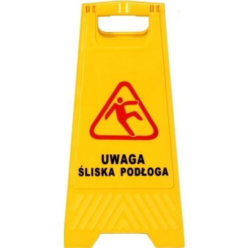 Clean Tablica ostrzegawcza uwaga ślisko