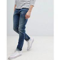 Mango man slim jeans in darkwash blue - blue