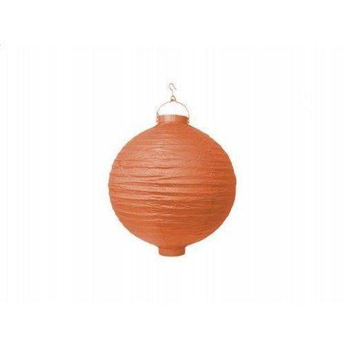 Świecący ogrodowy lampion papierowy 20 cm, pomarańczowy, 1 szt. (5901157454577)