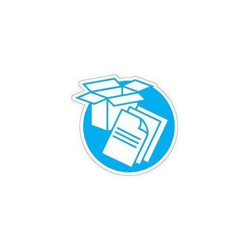 Piktogram na kosz do segregacji niebieski- papier, ROZNE-0123