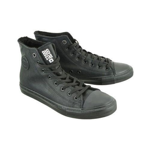 bb174315 czarny, trzewiki trampki męskie marki Big star