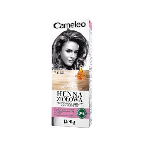 DELIA COSMETICS Cameleo 7.0 Blond Henna ziołowa do koloryzacji włosów, kolor blond
